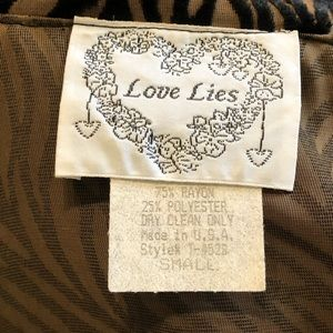 Love lies Jackets & Coats - Velvet cutout jacket in tan and black